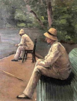 Gustave Caillebotte, Fishermen on the Banks of the Yerres (1876)