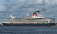 Queen Elizabeth leaving Liverpool
