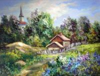 Country house and church