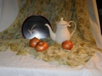 Still Life: Japanese tray, teapot and onions