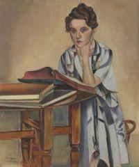 """The Reader"" 1936, Wyndham Lewis. Oil on Canvas"