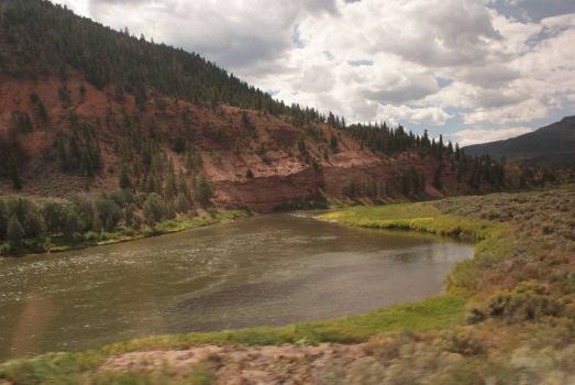 View from the train. Rocky Mtns. Colorado
