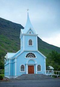 Blue Church, the Eastern Fjords, Seydisfjordur