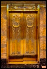 Carbide and Carbon Building elevator, Chicago