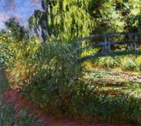 The Japanese Bridge (The Water-Lily Pond and Path by the Water) 1900 ~ Claude Monet