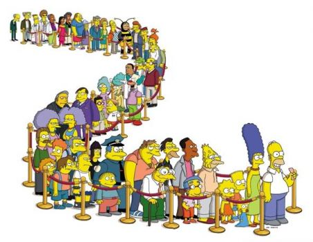 Simpsons Line Up