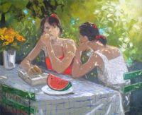 Sitting Chatting  - Andre Deymonaz