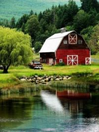 Old red barn country