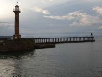 Lighthouse at dusk, Whitby