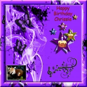 HAPPY BIRTHDAY Chrissie..... :) :)