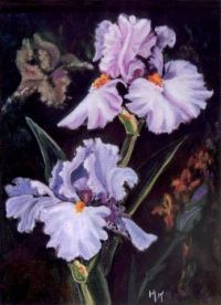 Iris Art by Mildred King