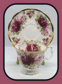 Pinknblack vintage-teacup-set