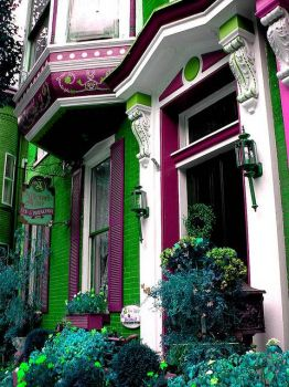 Green and purple B&B