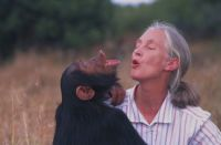 Jane Goodall and friend.