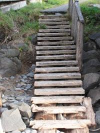 Olympic Beaches--steps down to the beach