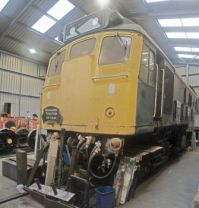 Bo'ness & Kinneil Railway 09-07-2019 BR class 25 235 'Derby Sulzer' Darlington Works 1964 horizontal panorama 01