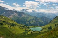 Mountain lake in Alps