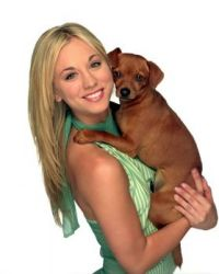 kaley_cuoco and her dog