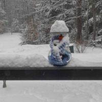 We built a snowman!