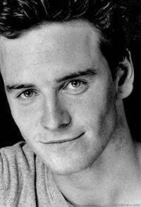 A very young Michael Fassbender, black and white