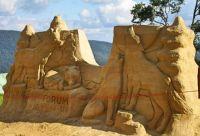 Sand sculpture, Socha z písku