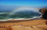 Fogbow over San Diego beach