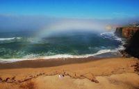 Fogbow over San Diego beach