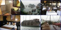 Halong Bay Junk - and our cabin - for Nev!