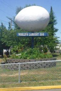 World's Largest Egg...Winlock, Washington, USA