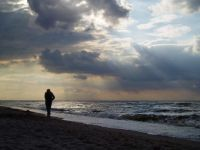 Beach walk, the Baltic Sea