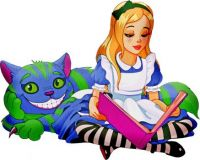 Alice and the Cheshire Cat by AnnaliseArt