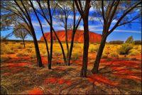 Scene of Ayers Rock NT.