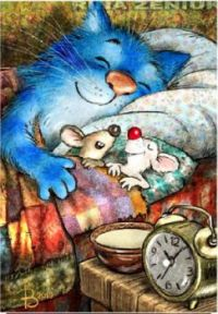 Blue cat with mice 2