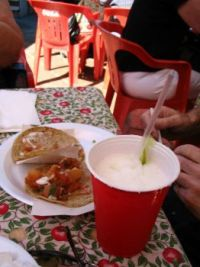 Taco and margarita in Mexico, yummy!