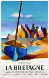 La Bretagne Vintage Travel Poster