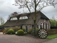 farm in Holland with a thatched roof