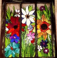STAINED GLASS MOSAIC WINDOW PANEL