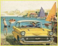 1957 Yellow Chevrolet Bel Air Sport Coupe