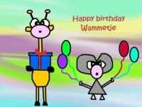 Happy birthday Wammetje♥♥♥