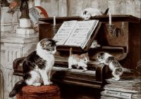 Cats on A Piano