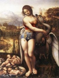 Wonder Woman and the Swan