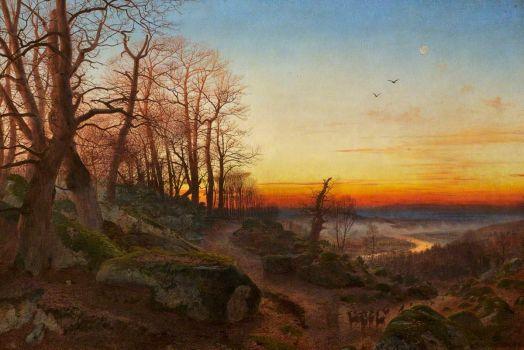 Andrew McCallum, Eveninig Glow, Parc Howard Museum and Gallery