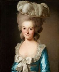 "Alexander Roslin Portrait of a French lady, (called ""Mademoiselle de Bionville"") 1780"