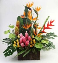 Happiness is….Exotic Tropical Arrangement.