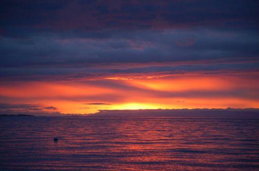 Sunset over Strait of Juan de Fuca
