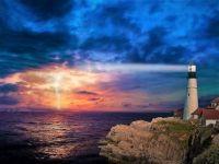 Lighthouse shining Light on the Storm...