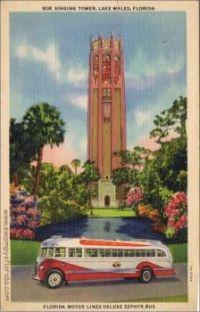 Florida Bus Post Card