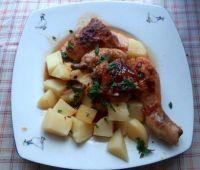 kuře s medovo-česnekovou omáčkou