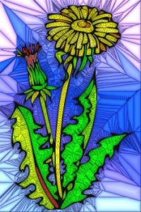 STAINED GLASS FLOWER B30