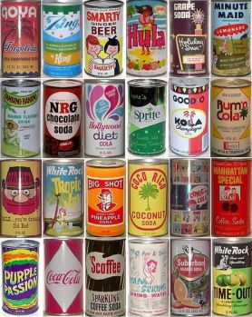 soda-cans between 1930's - 1970's